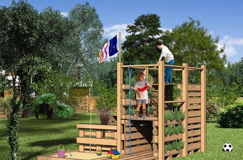 Zamek z palet – zbuduj miejsce zabaw dla dzieci. PROJEKT DO POBRANIA